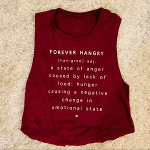 Tops - Forever Hangry 🍩 Muscle Crop